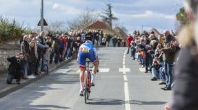The Cyclist Arnaud Demare - Paris-Nice 2016 Royalty Free Stock Image