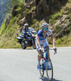 The Cyclist Arnaud Demare - Tour de France 2015. Col D'Aspin,France- July 15,2015: The French cyclist Arnaud Demare of FDJ Team, climbing the road to Col D'Aspin Stock Photography