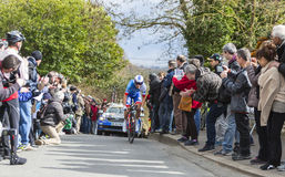 The Cyclist Arthur Vichot - Paris-Nice 2016 Royalty Free Stock Photo