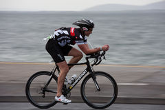 Cyclist, Barry Jackson (1103), panning technique Royalty Free Stock Photos
