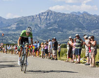 The Cyclist Bauke Mollema Royalty Free Stock Photos