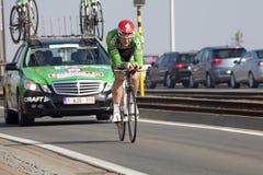 A cyclist, Belgium Stock Photos