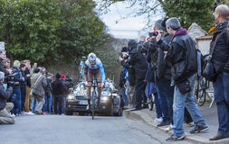 The Cyclist Ben Gastauer - Paris-Nice 2016 Stock Photos