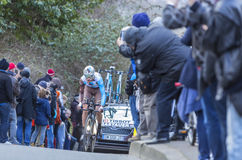 The Cyclist Ben Gastauer - Paris-Nice 2016 Royalty Free Stock Photos