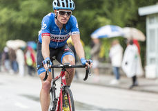 The Cyclist Benjamin King. Gerardmer, France - 12.07.2014: The American cyclist Benjamin King (Team Garmin Sharp) riding during the stage 8 of Le Tour de France Stock Photos