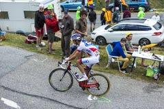 The Cyclist Benoit Vaugrenard - Tour de France 2015 Royalty Free Stock Images