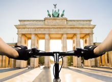 Cyclist in Berlin Royalty Free Stock Photo