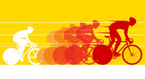 Cyclist in the bicycle race. Vector and Illustration Stock Photo