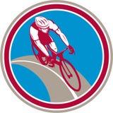 Cyclist Bicycle Rider Circle Retro Stock Photo