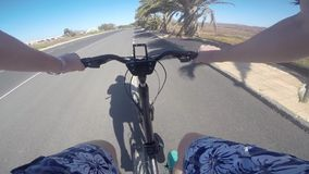 Cyclist on the bicycle stock video footage