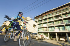 Cyclist at Bike For Dad Royalty Free Stock Photo