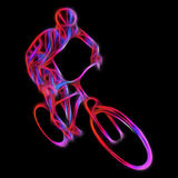 Cyclist in a bike race. Color illustration Royalty Free Stock Photography