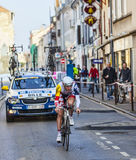 The Cyclist Bille Gaëtan- Paris Nice 2013 Prologue in Houilles Royalty Free Stock Image