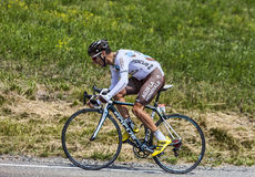 The Cyclist Blel Kadri. Chorges, France- July 17, 2013: The French cyclist Blel Kadri from Ag2r-La Mondiale Team pedaling during the stage 17 of 100th edition of Royalty Free Stock Images