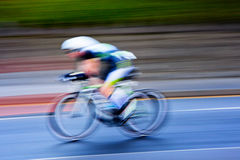 Cyclist , blurred motion Royalty Free Stock Photography