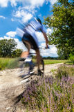 Cyclist in blurred motion Stock Photography