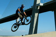 Cyclist in BMX bike Royalty Free Stock Image