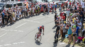 The Cyclist Bob Jungels on Col du Glandon - Tour de France 2015 Stock Image