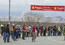 The Cyclist Borut Bozic - Tour de Catalunya 2016. Barcelona, Spain - March27, 2016: The Slovenian cyclist Borut Bozic of Cofidis Team riding on the top of Stock Photos