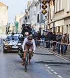 The Cyclist Bouet Maxime- Paris Nice 2013 Prologue in Houilles Stock Photo