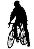 Cyclist boys two. Sport man whit bike on white background Stock Photos