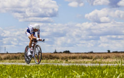 The Cyclist Brice Feillu Stock Image