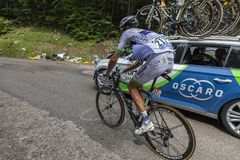 The Cyclist Brice Feillu - Tour de France 2017 royalty free stock image