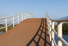 Cyclist Bridge Groot-Ammers Stock Image
