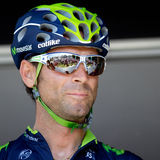 Cyclist champion Valverde. Royalty Free Stock Photos
