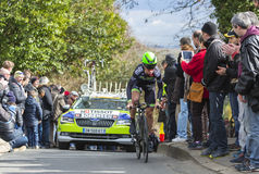 The Cyclist Chris Anker Sorensen - Paris-Nice 2016 Stock Images