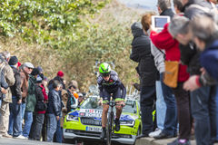 The Cyclist Chris Anker Sorensen - Paris-Nice 2016 Royalty Free Stock Photography