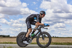 The Cyclist Christian Knees Stock Images