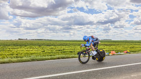 The Cyclist Christian Vande Velde Royalty Free Stock Photos