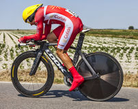 The Cyclist Christophe Le Mevel. Ardevon,France-July 10, 2013: The French cyclist Christophe Le Mevel  from Cofidis Team cycling during the stage 11 of the Stock Photo