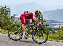 The Cyclist Christophe Le Mevel. Chorges, France- July 17, 2013: The French cyclist Christophe Le Mevel from Cofidis Team pedaling during the stage 17 of 100th Stock Image