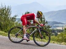 The Cyclist Christophe Le Mevel Stock Image
