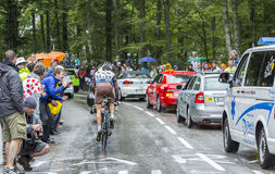 The Cyclist Christophe Riblon - Tour de France 2014 Stock Images