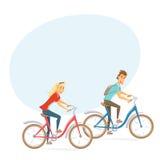 Cyclist on city bike Stock Photo
