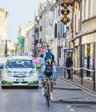 The Cyclist Clarke Simon- Paris Nice 2013 Prologue in Houilles. Houilles, France- March 3rd 2013: The Australian cyclist Clarke Simon from Orica Greenedge Team Stock Photography