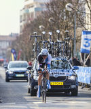 The Cyclist Clement Stef- Paris Nice 2013 Prologue in Houilles Royalty Free Stock Image
