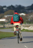 Cyclist Commuting Stock Image