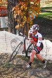 Cyclist competes in Cyclocross Race Royalty Free Stock Photography