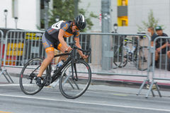 Cyclist competing Stock Image