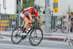 Cyclist competing Royalty Free Stock Photography