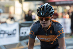 Cyclist competing Stock Images