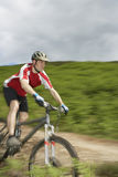 Cyclist On Countryside Track Stock Photos