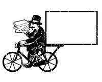 Cyclist courier logo Stock Image