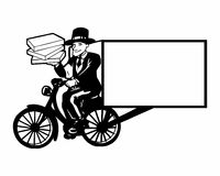 Cyclist courier logo Stock Photo