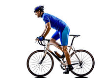 Cyclist cycling road bicycle silhouette stock image