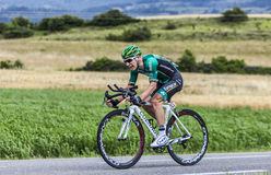 The Cyclist Cyril Gautier. Chorges, France- July 17, 2013: The French cyclist Cyril Gautier  from Team Europcar pedaling during the stage 17 of 100th edition of Royalty Free Stock Photos